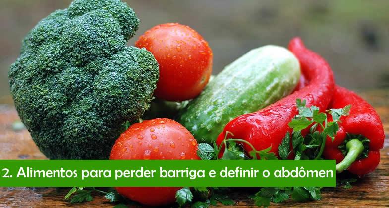 Alimentos que ajudam a perder barriga e definir o abdômen