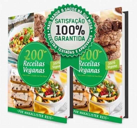 Livro 200 Receitas Veganas